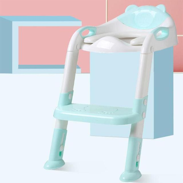 Folding Baby Potty Training Infant Kids Toilet Training Seat With Adjustable Baby Potty Ladder Baby Toilet Folding Seat | Happy Baby Mama