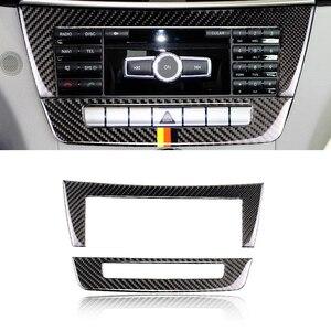 Image 2 - For Mercedes Benz C Class W204 2010 2011 2012 2013 Carbon Fiber Car Center Console Air Condition Panel Frame Cover