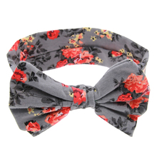 Kid Baby Girl Floral Elastic Hairband Girls Headband Toddler Bow Flower Hair Band Accessories Headwear