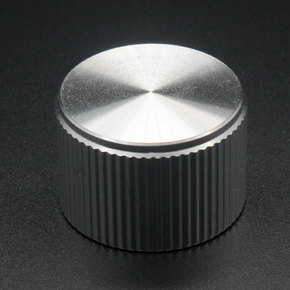 Aluminium Alloy Potentiometer Knob Oven Electric Appliance Audio Amplifier Adjusting Knob 25X17MM