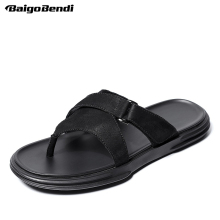 Summer Flip Flops Men Cool Slippers Beach Shoes T-tied Man Slides Holiday