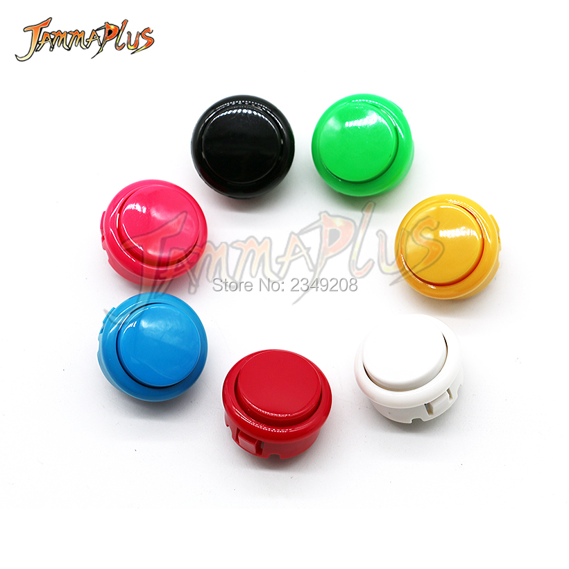 50pcs Copy SANWA Push Button 30mm & 24mm Round Button Switch For Arcade Joystick DIY Parts(China)