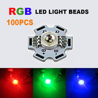 100x LED COB Chip RGB Red Green Blue Round LED Bulb Lights Chip With PCB DIY SMD Diodes Chip Wholesale Beads 3W