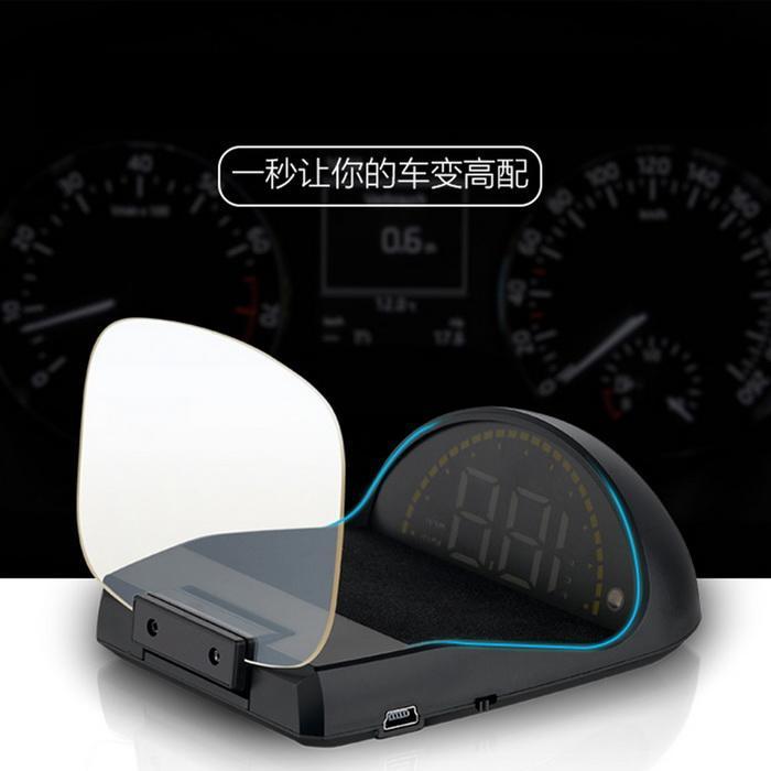 3.5 pouces général voiture tête haute affichage HUD Perspective verre LED projection hud affichage voiture électronique voiture compteur de vitesse projecteur