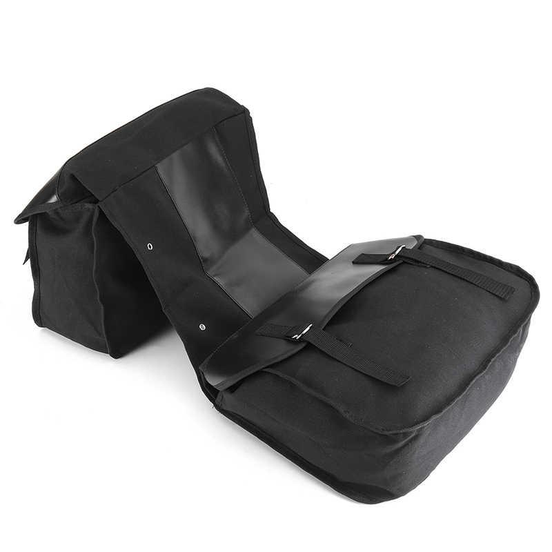 1 zestaw boczne motocyklowe torebka podsiodłowa Pannier pakiet torba na bagaż wodoodporny czarny 38*13*28.6cm plecak akcesoria motocyklowe