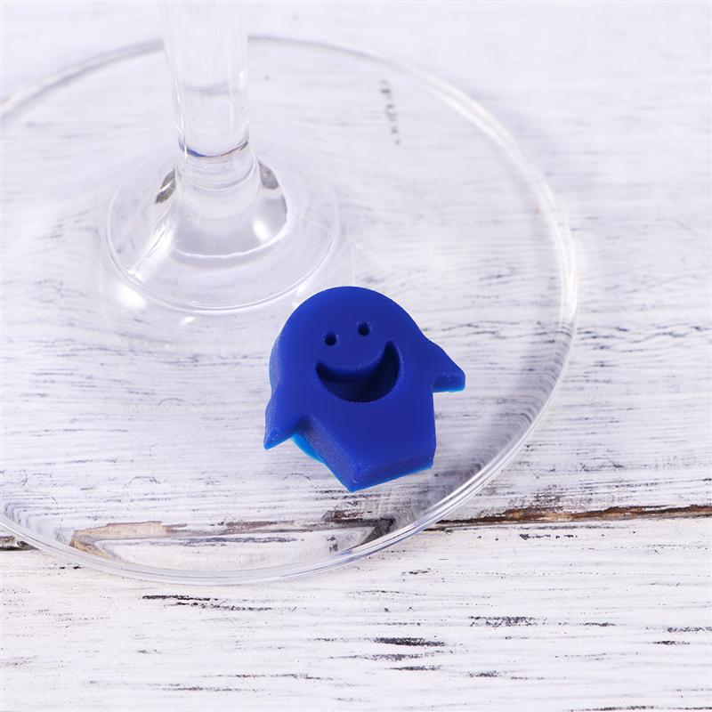 6 шт силиконовый красный маркер на стакан для вина креативный стикер-улыбка присоска маркировка стекло идентификация идеально подходит для вечеринок
