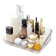 Plastic Makeup Organizer Cosmetic Jewelry Storage Box Lipstick Rack Eyeshadow Brushes Bathroom Container Drawer Display Holder(China)