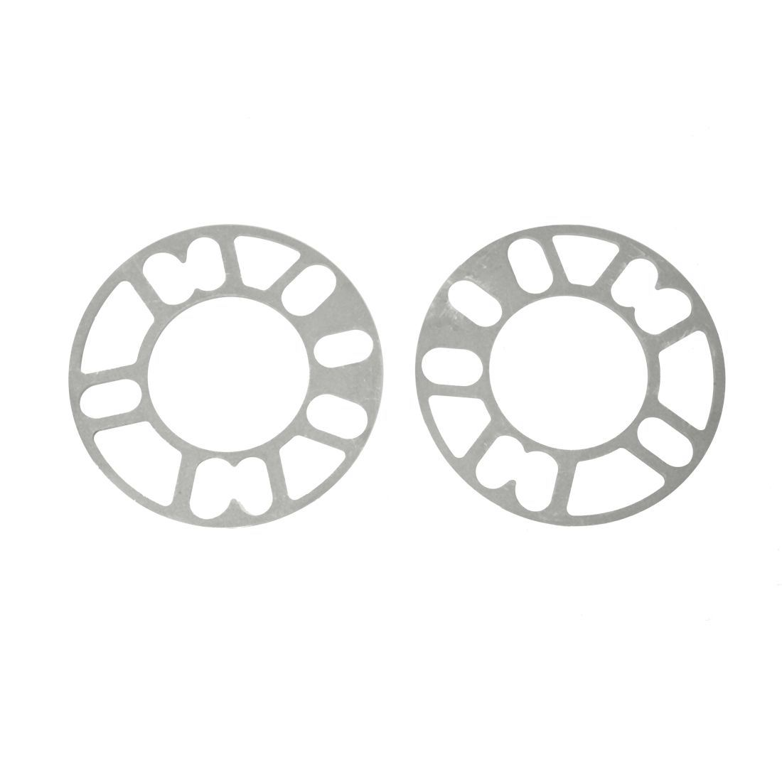 2PCS Aluminum Alloy 4 and 5 Lug 5mm Wheel Spacer Gasket for Auto Vehicle