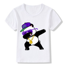 Dabbing Cartoon Funny T-Shirts Kids Summer