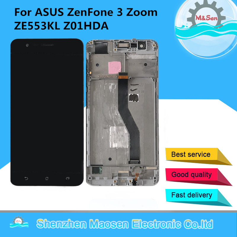 M Sen OLED For ASUS ZenFone 3 Zoom ZE553KL ZE553 Z01HDA LCD Screen Display Touch Panel