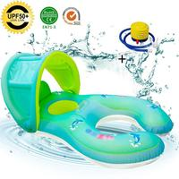 Baby Spring Float Inflatable Swim Ring Parent Child Interactive Swimming Ring Lifebuoy Seat Boat Float Water Toy For Kid Infant