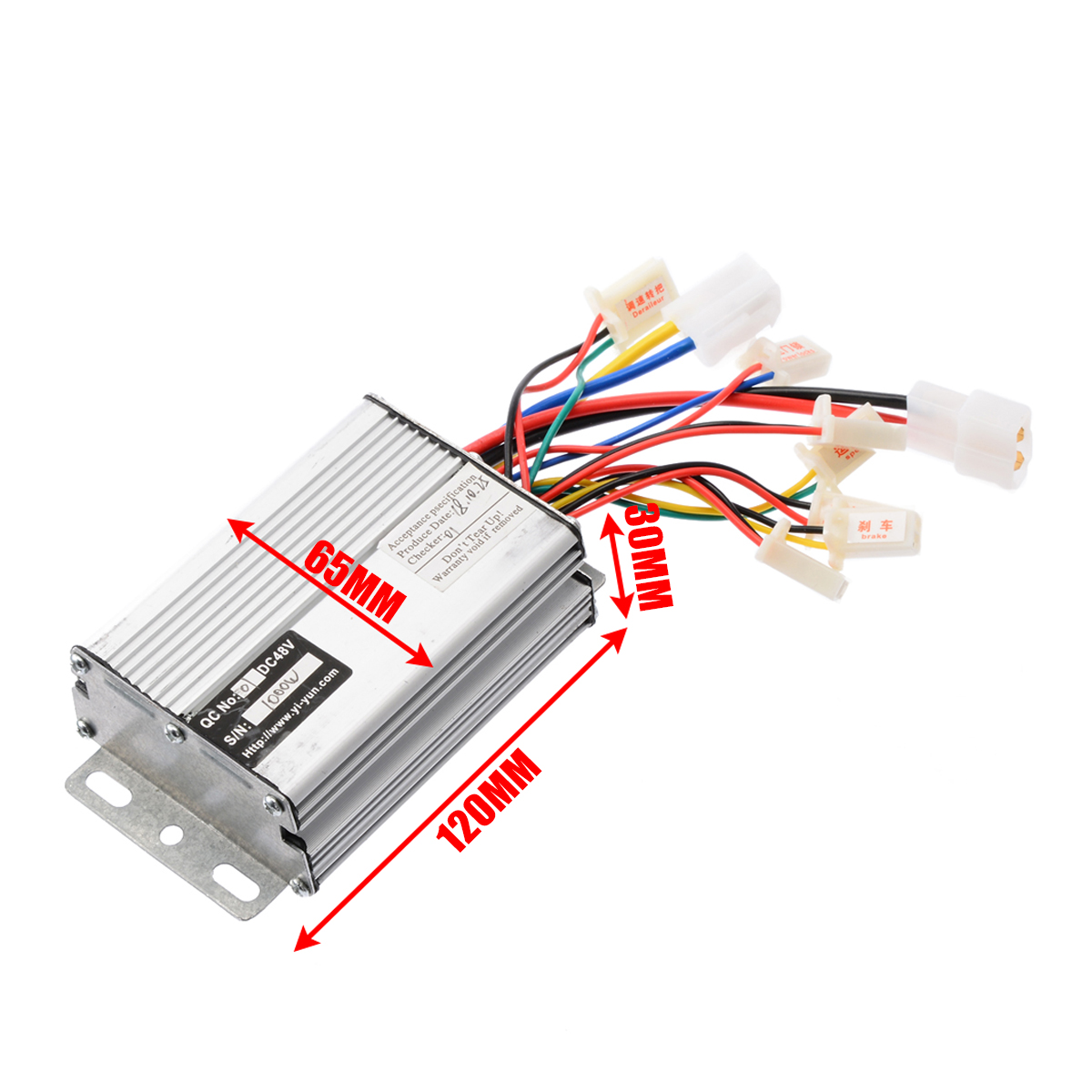 48V 1000W Electric Bicycle Brush Speed Motor Controller For E-bike & Scooter Drives & Motor Controls