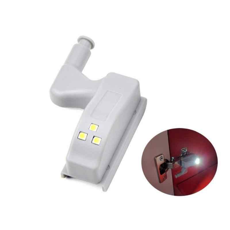 Универсальная внутренняя петля светодиодная Сенсорная лампа 0,3 Вт шкафчик, гардероб, буфет дверь 3 светодиодный ночник Авто Переключатель ВКЛ/ВЫКЛ лампочка нет Bateria