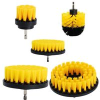 JEYL 5Pcs Combinate Drill Brush Power Scrubbing Brush Drill Spin Scrubber Electric Cleaning Brush Fixing for Car Bathroom Wood