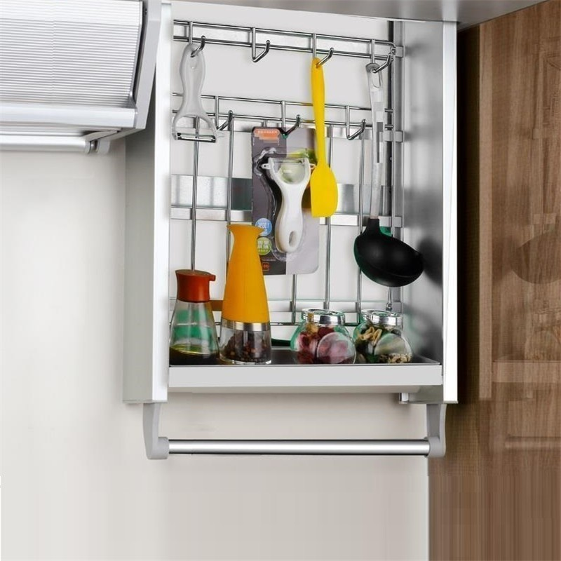 And Storage Colgar En La Ducha Accessories Rangement Cuisine Hanging Organizer Rack Kitchen Cabinet Cestas Para Organizar Basket