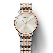 Switzerland Luxury Brand Wristwatches LOBINNI 7mm Ultra-thin Quartz Watch Men Fashion Lovers Style Water Resistant Clock L3010W