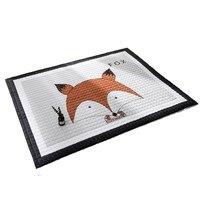 Northern Baby Play Mat Patchwork Kids Room Carpet Door Mat Cartoon Bear/fox/deer/rabbit Comfortable 100% Cotton Material
