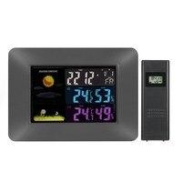 Weather Station Barometer Thermometer Hygrometer Wireless Sensor LCD Display Weather Forecast Digital Alarm Clock New