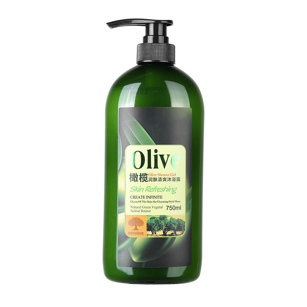 750ml Natural Olive Extracts Shower Gel Moisturizing Nourishing Deep Cleansing Fragrance Body Wash