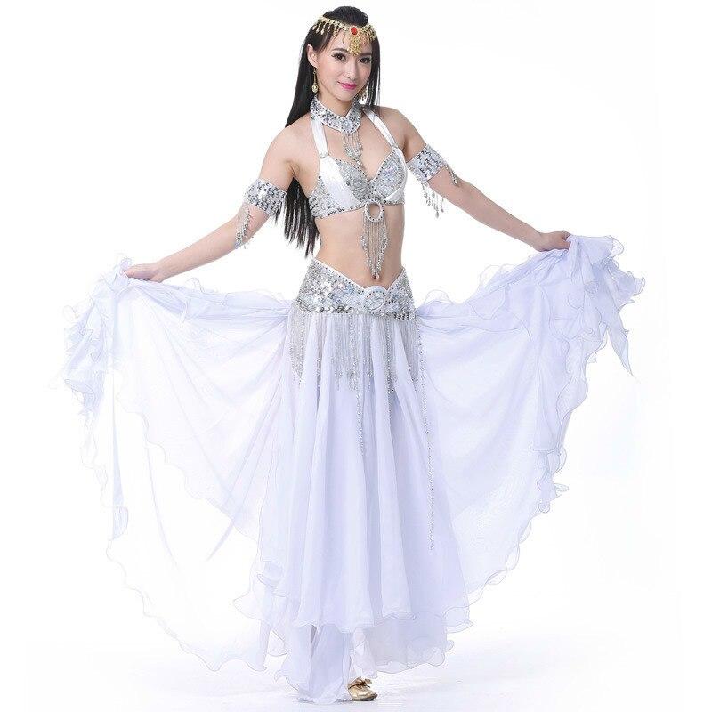 Jupe de danse du ventre soutien-gorge et ceinture ensembles sexy professionnel falda danza del vientre cintura danza del ventre