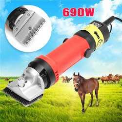 Doersupp 690 W caballo eléctrico oveja cortadora oveja cabra recortadora afeitadora cortador caballo granja cizalla US/AU enchufe 110 V/230 V