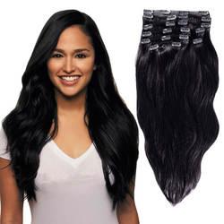 YONNA волосы remy Клип В натуральные волосы Расширения Двойной уток длинные мягкие прямые 10 шт. толщиной до концы волос полная голова
