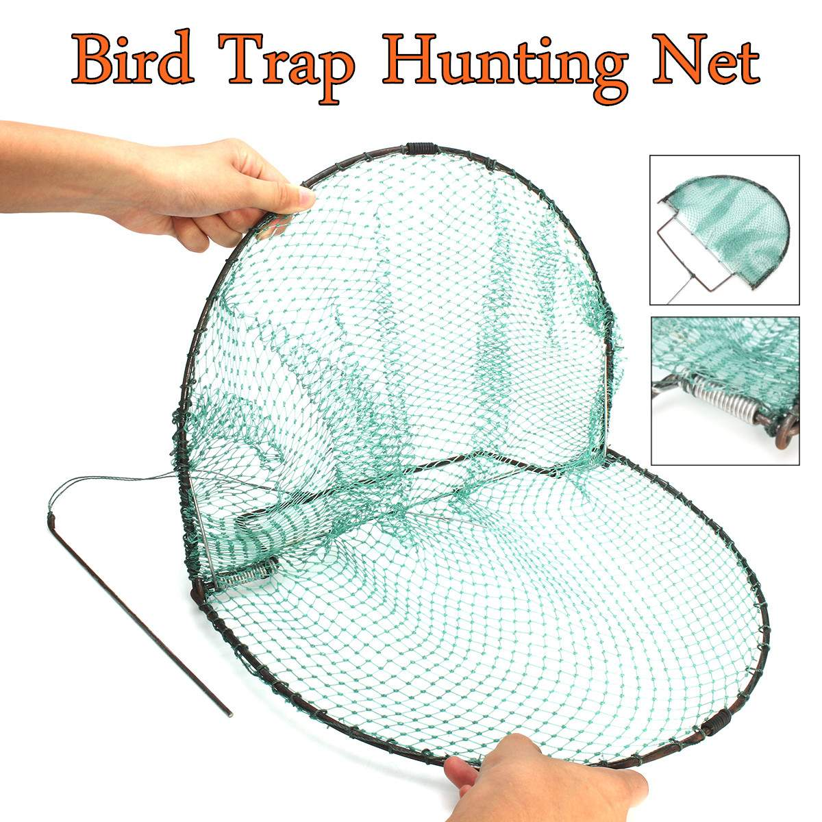 New Bird Net Effective Humane Live Trap Hunting Sensitive Quail Humane Trapping Hunting Garden Supplies Pest Control 49X30cm
