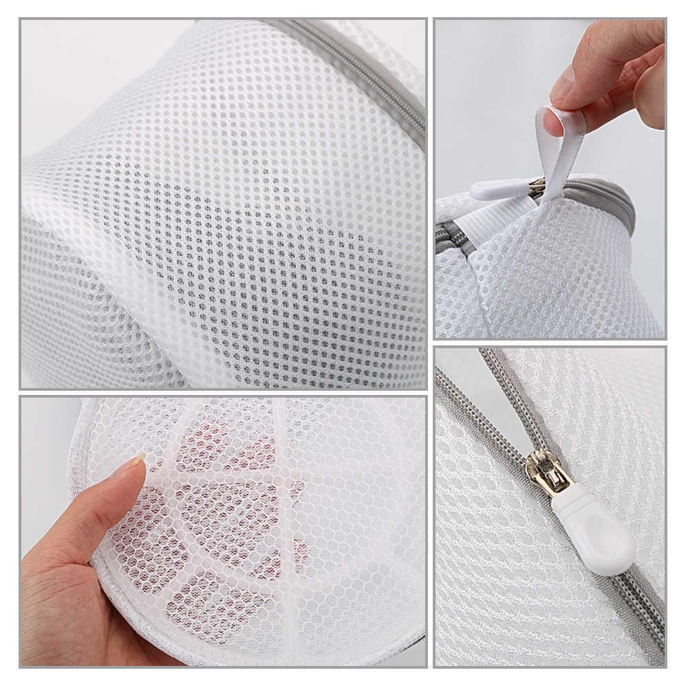 Mulheres Underwear Bra Lingerie Lavanderia Sacos de Lavar Roupas de Malha Meia Ajuda a Lavagem Líquido Sacos Zip Meias Saver Protetor de Sutiãs