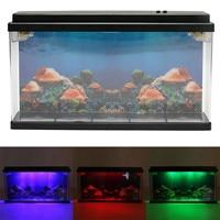 45x8x24cm Jellyfish Deluxe LED Light Glowing Aquarium Fish PetsTank Household Home Decor Underwater World Background