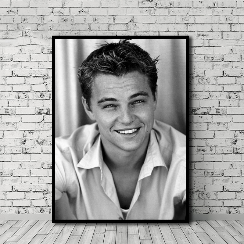 <font><b>Leonardo</b></font> <font><b>DiCaprio</b></font> Poster Canvas <font><b>Painting</b></font> Print Wall Art Home Decor No Frame Dropshipping image