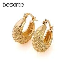 Женские золотые серьги кольца cc обручи корейский стиль Прямая