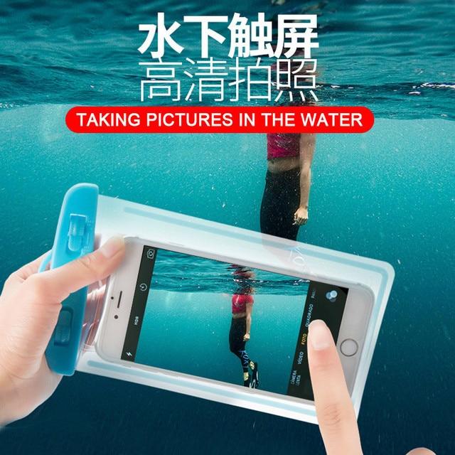 Swimming Phone Bags Diving Waterproof Case Swim Waterproof Cell Phone Case For iPhone X 8 8 Plus 7 7P 3.5-6.0 inch Sport Bags
