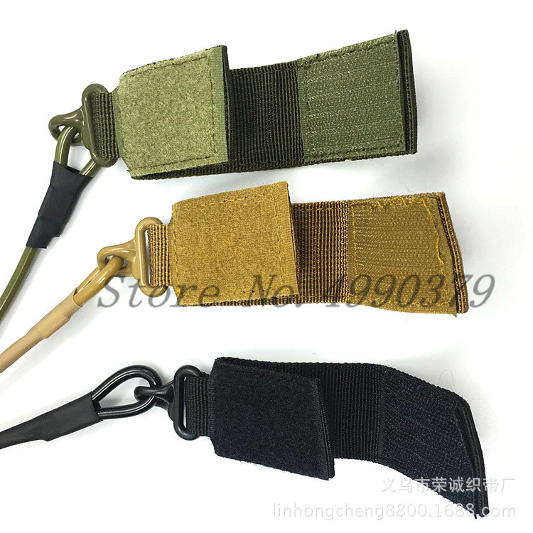 Image 2 - Adjustable Combat Tactical Pistol Hand Gun Secur Hand Gun Secure Lanyard Spring Strap Black Tan Army Green-in Hunting Gun Accessories from Sports & Entertainment