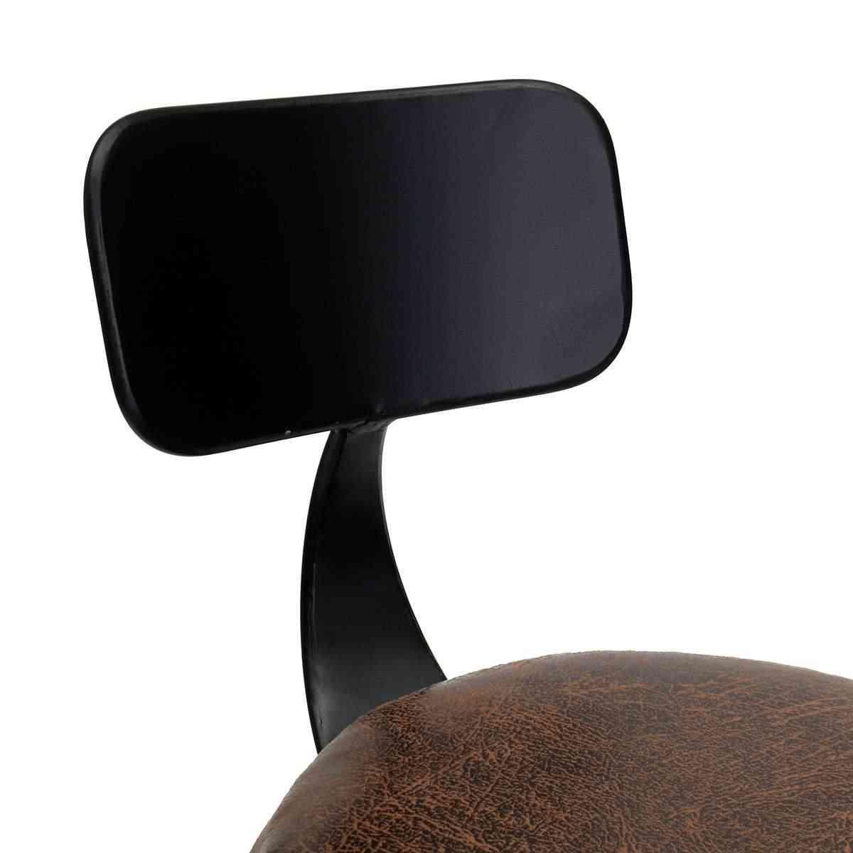 Промышленный Ретро Барный стул, кресло барный стул, железная кожа, противоскользящий, регулируемый, 360 вращается, Эргономичная спинка, барная мебель
