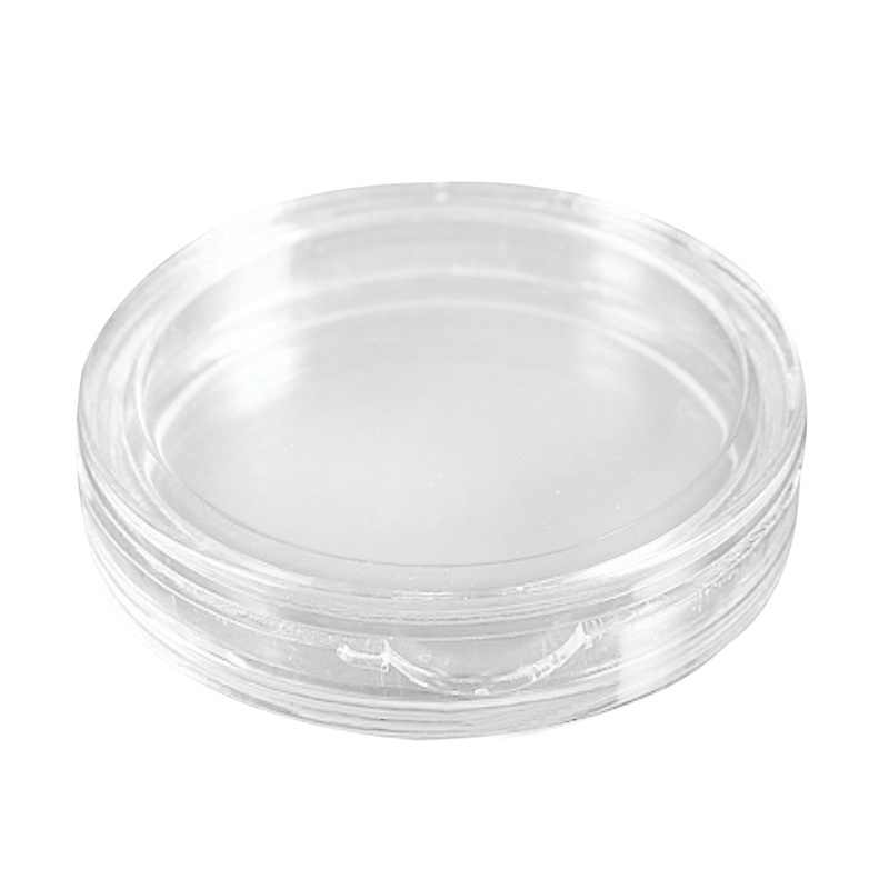 10 pcs Small round transparent plastic coin capsules box