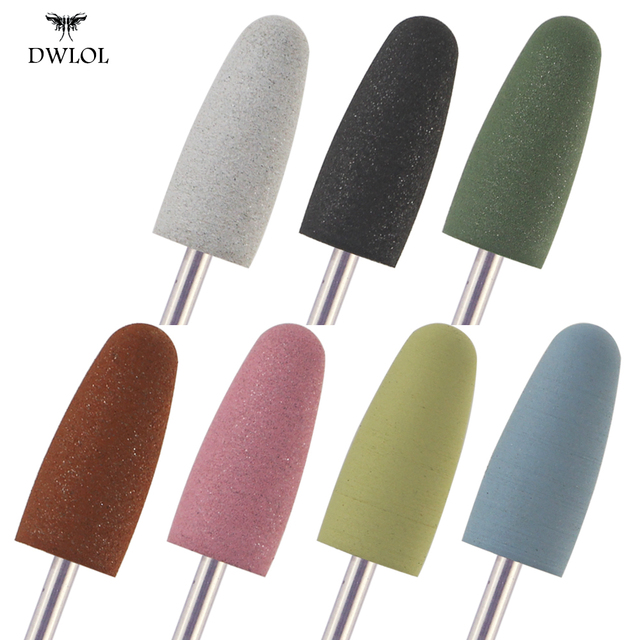1pcs Nail Drill Bits Silicone Grinder for Nail Polish Rotary Burr Cuticle Cutter for Manicure Electric Accessories Tools