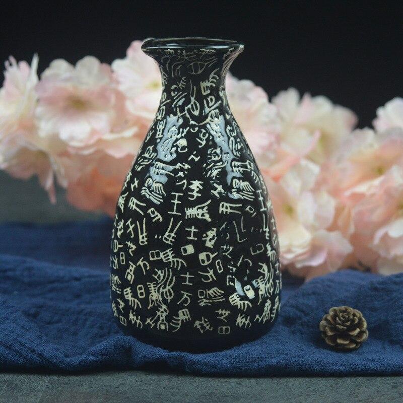 Японский ликер горшок Ретро керамика теплые емкость для ликера дистрибьютор бытовой маленькие белые вина флакон китайский barware Сакура