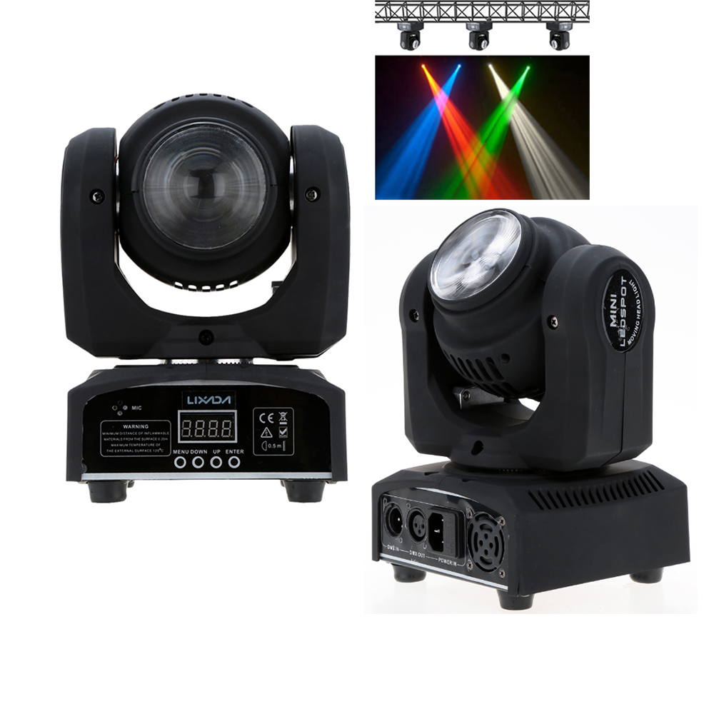 2LED 35W RGBW 15 21 Channel DMX512 Double Sides Beam Infinite Rotating Moving Head LED Stage