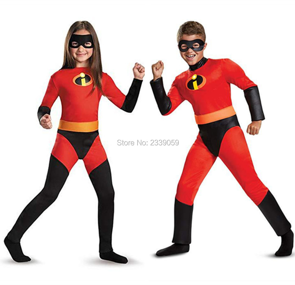 Halloween Costume Mr. Incredible 2 jumpsuit Incredibles girls Violet/boys Cosplay Kids hero fancy dress