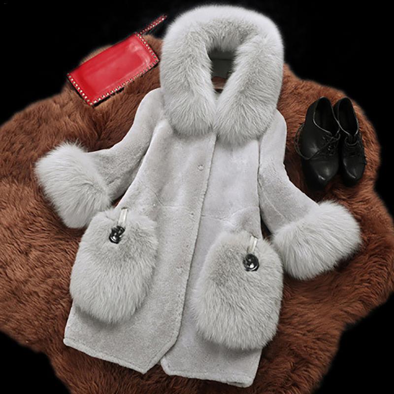 De Long Cardigan Bontjas Fausse Manteau Artificielle Veste Taille Femelle Femme Fourrure Hiver En Abrigos Femmes La Plus CfqwIf