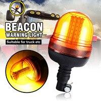 1Pcs 60LED Rotating Flashing Amber Beacon Flexible Warning Lamp Rotating Work Emergency Strobe Signal Light 12V/24V Car Truck