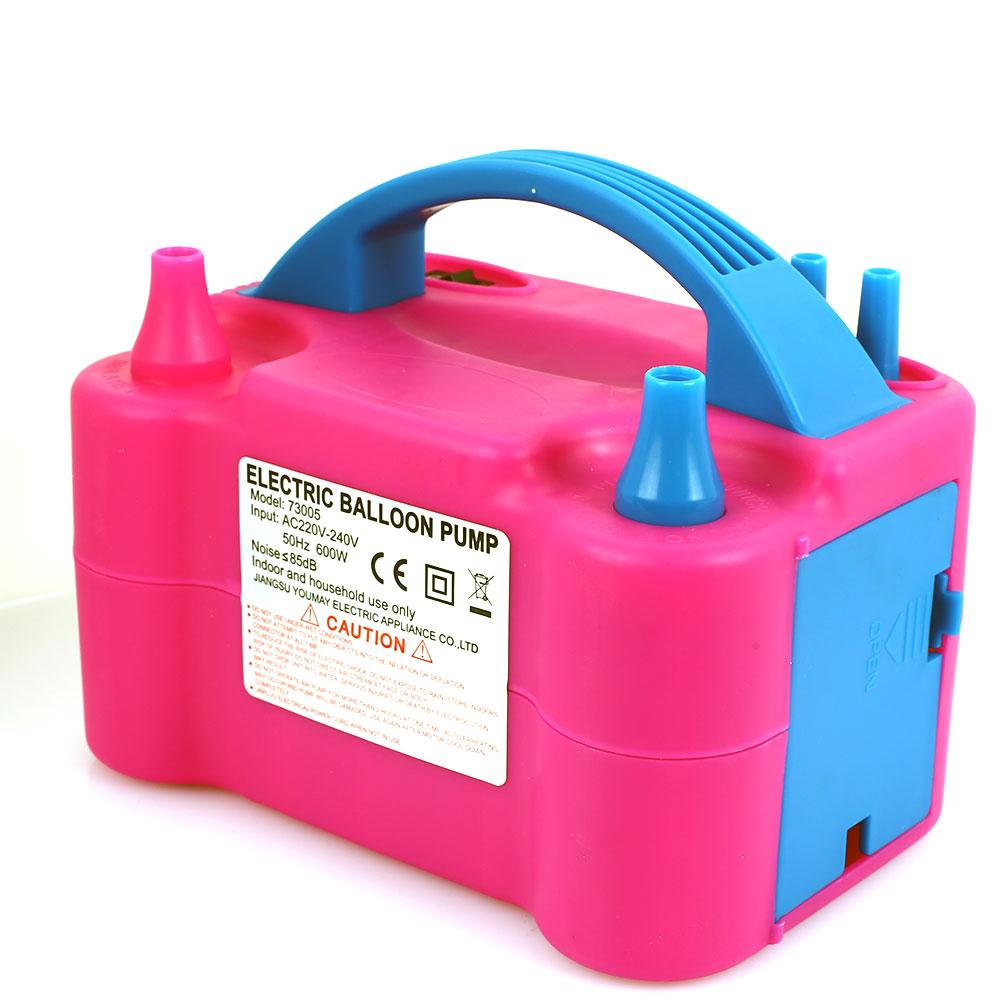 Насос для воздушных шаров Электрический насос для шаров электрический 600 Вт розовый пластиковый воздушный вентилятор надувной воздушный шар прочный внутренний