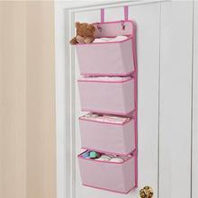 Clothes-Organizer Storage-Bag Closet Hanging Wall-Door Bedroom Kitchen for Pink Pink