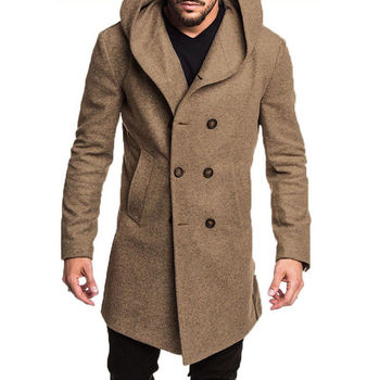 Warm Autumn Winter Cool Mens British Style Woolen Casual Jacket Coat Handsome Boys Overcoat Black Gray Camel Long Jacket jeans con blazer mujer