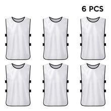 2e31440c1 6PCS Adults Soccer Vest Pinnies Quick Drying Basketball Football Jerseys  Practice Team Training Sports Vest Team