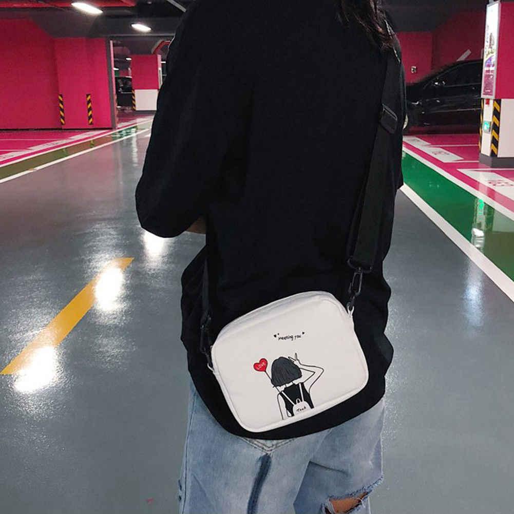 2019 NOVA Moda saco do Mensageiro das mulheres padrão bonito dos desenhos animados selvagem mini saco do telefone móvel bolsa de ombro