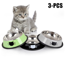 Dog-Cat-Bowls Puppy Food-Dish Cat-Feeding-Feeder Cats Stainless-Steel for Pet-Dog Outdoor