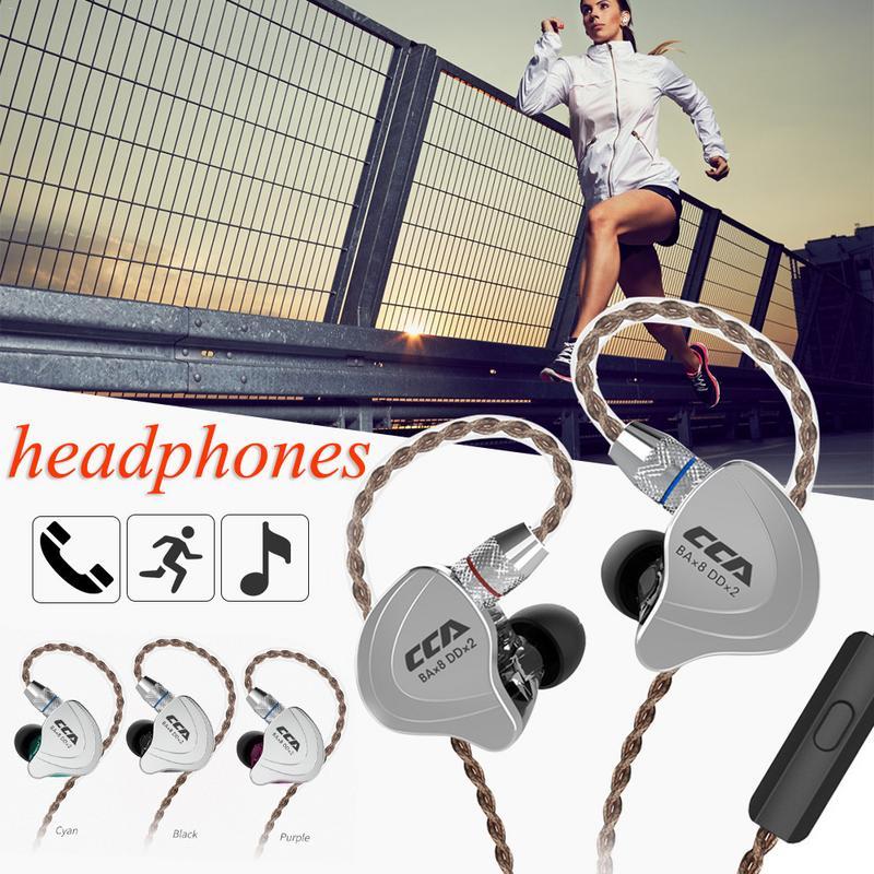 CCA C10 cercle fer écouteur dix unité basse dans l'oreille Balance Mobile fer sport écouteur universel fil contrôle bobine filaire écouteur