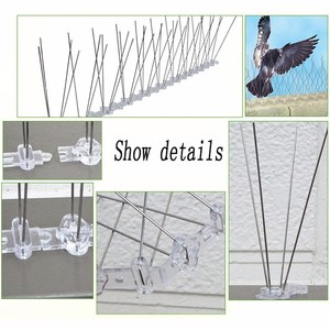 Image 5 - Hot 1 15PCS Pest Control Plastic Bird and Pigeon Spikes Anti Bird Anti Pigeon Spike for Get Rid of Pigeons and Scare Birds