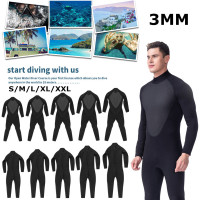 3MM Men WetSuit S/M/L/XL/XXL Full Body Super Elasticity Diving Suit For Swim Surf Snorkeling Elastic Adjustable OK Cloth Warm